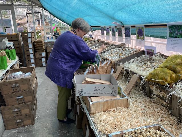 Isabelle Van Groeningen packt Zwiebelmischungen © Isabelle Van Groeningen